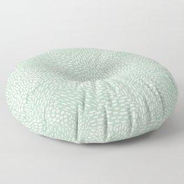 Abstract Brush Strokes, Sage Green Floor Pillow