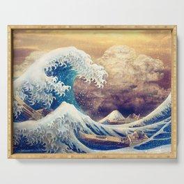 The Great Wave off Kanagawa Serving Tray