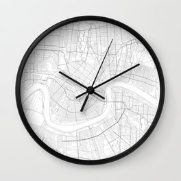 New Orleans, United States Minimalist Map Wall Clock