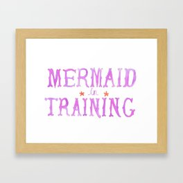 Mermaid in Training Framed Art Print
