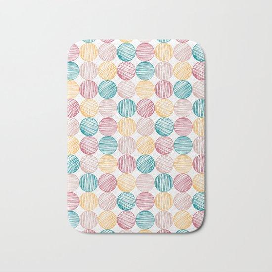 Scrawled Polka Dots Bath Mat