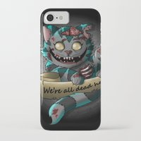 gore iPhone & iPod Cases featuring Chesire cat gore by trevacristina