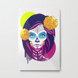La Catrina Metal Print