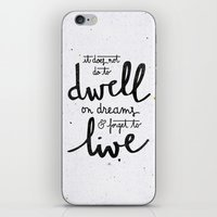snape iPhone & iPod Skins featuring Dwell on dreams by Earthlightened