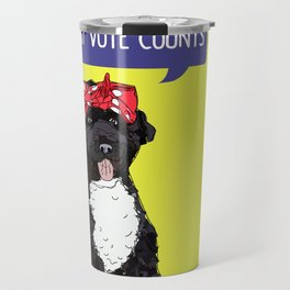 Political Pup -Every Vote Counts Travel Mug