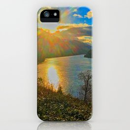 Columbia River Gorge, Sunset iPhone Case