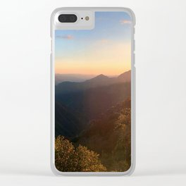 Kings Canyon Sunset Clear iPhone Case