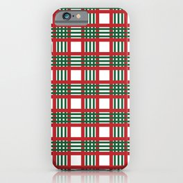 Christmas plaid pattern iPhone Case
