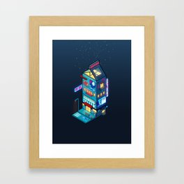 Cyberpunk Milk Framed Art Print