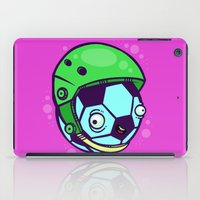 soccer iPad Cases featuring Soccer Helmet by Artistic Dyslexia