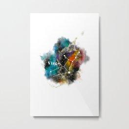 Galaxy VIRGO Star Sign Astrology Watercolour Rainbow Art Print Art Print Metal Print