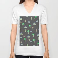 egyptian V-neck T-shirts featuring Egyptian Pyramids by Cale potts Art