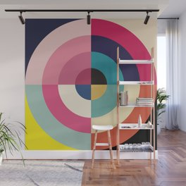 Summer - Colorful Classic Abstract Minimal Retro 70s Style Graphic Design Wall Mural