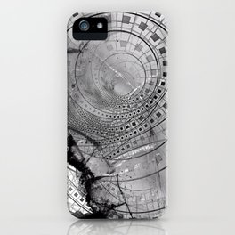 Fragmented Fractal Memories and Shattered Glass iPhone Case