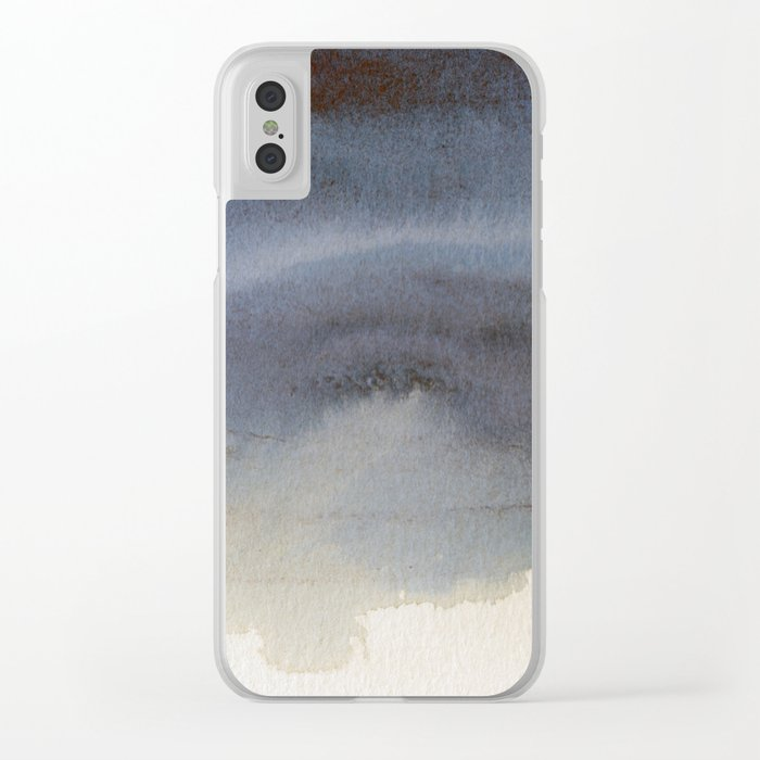 Oil Slick Abstract Art Clear iPhone Case