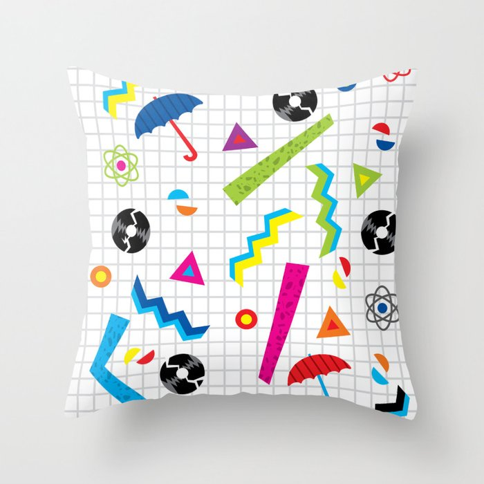 Breaking Atoms Throw Pillow