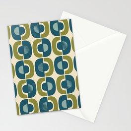 Retro Mid Century Modern Pattern 336 Stationery Cards