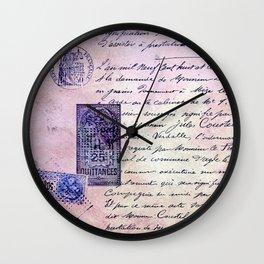 aérogramme Wall Clock