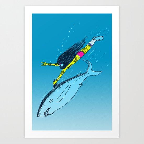 Shark Yeah Art Print