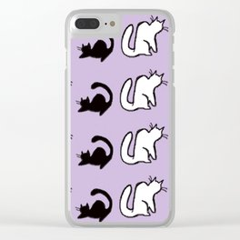 Purrsonality Clear iPhone Case