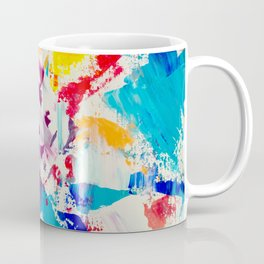Forever and always red blue yellow abstract acrylic paint Coffee Mug