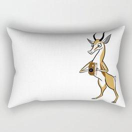 Springbok with a folding camera Rectangular Pillow