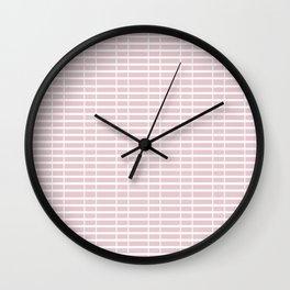 Pink Train Tracks Wall Clock