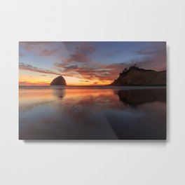Sunset of Oregon coast Metal Print