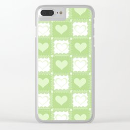 Love is Green Clear iPhone Case