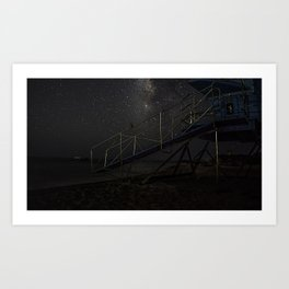 Life Guard Off Duty Art Print