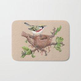 Chestnut Sided Warbler in Nest Bath Mat