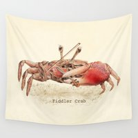 crab Wall Tapestries featuring Fiddler Crab by Eric Fan