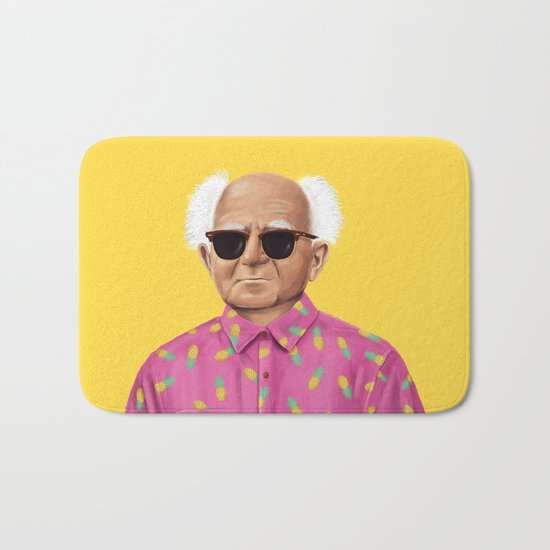 The Israeli Hipster leaders - David Ben Gurion Bath Mat
