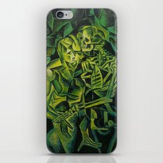A Skeleton Embracing A Zombie Halloween Horror iPhone Skin