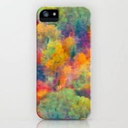 Autumn forest iPhone Case