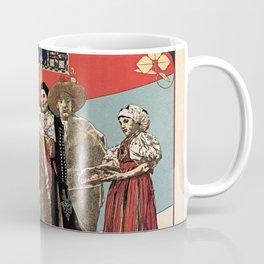 Czechoslav ethnographic exposition vintage ad Coffee Mug