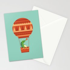 Dragon On Hot Air Balloon Stationery Cards