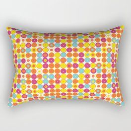 Funny Polkas-Yellow and orange Rectangular Pillow