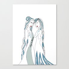 Gemini / 12 Signs of the Zodiac Canvas Print