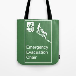 Accessible Means of Egress Icon, Emergency Evacuation Chair Sign Tote Bag