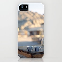 on the edge of the world iPhone Case