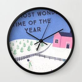 The Most Wonderful Time of the Year Wall Clock