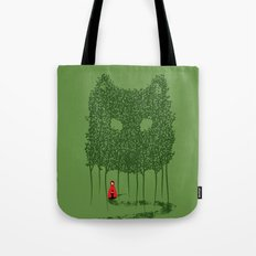 Red & The Wolf Tote Bag