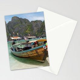 Long Tail Boats, Maya Bay, Ko Phi Phi Lee Island, Thailand Stationery Cards