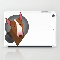 bull terrier iPad Cases featuring Brown Bull terrier by Kiiki