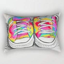Walk a Mile in my Chucks Rectangular Pillow