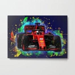 Sebastian Vettel car Metal Print