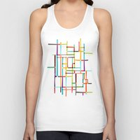 mondrian Tank Tops featuring The map (after Mondrian) by Picomodi