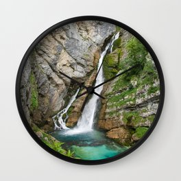 Savica Waterfall Photography Nature Wall Clock