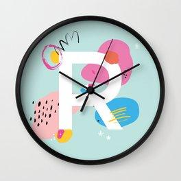 R Monogram Wall Clock